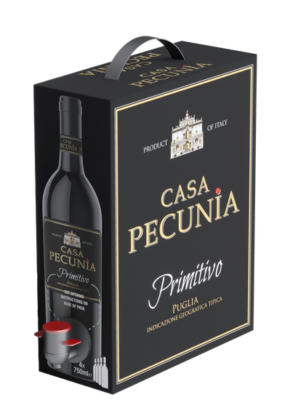BAG-IN-BOX CASA PECUNIA PRIMITIVO IGT 3L