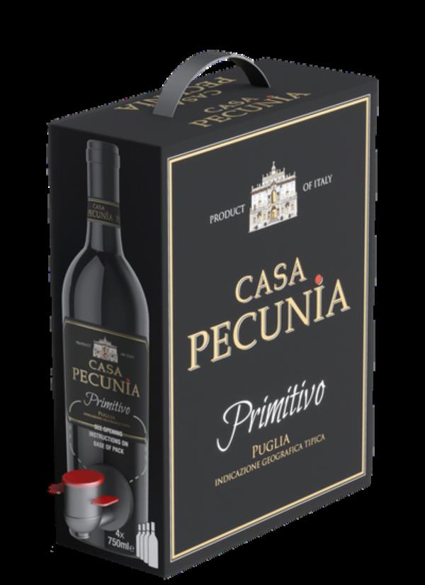 BAG-IN-BOX CASA PECUNIA PRIMITIVO IGT 3L
