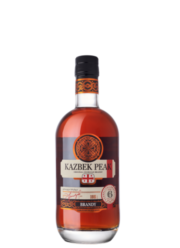 KAZBEK PEAK AGED 6 MONTHS BRANDY 0,5L
