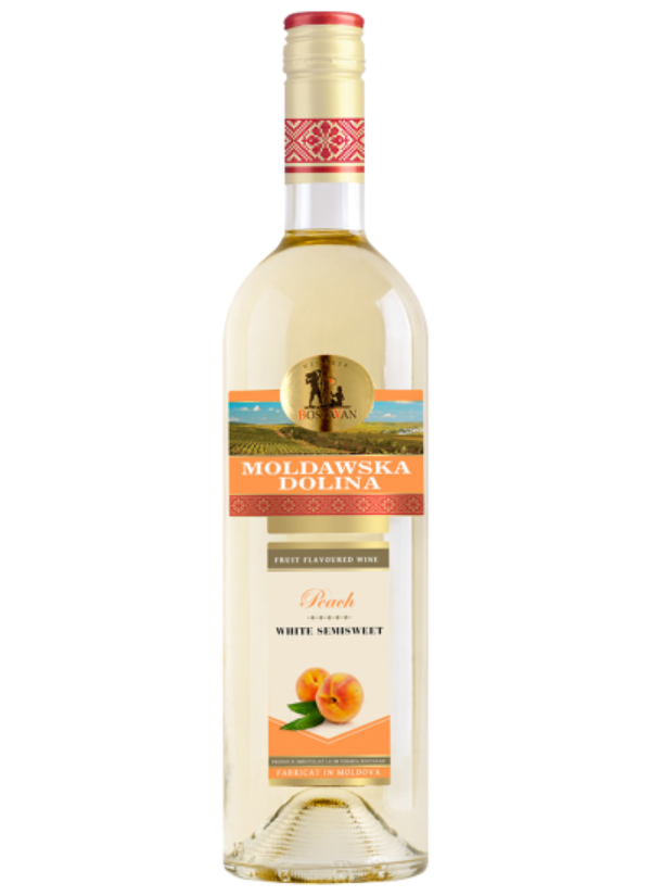 MOLDAWSKA DOLINA FRUIT SEMI SWEET WHITE PEACH 0,75L