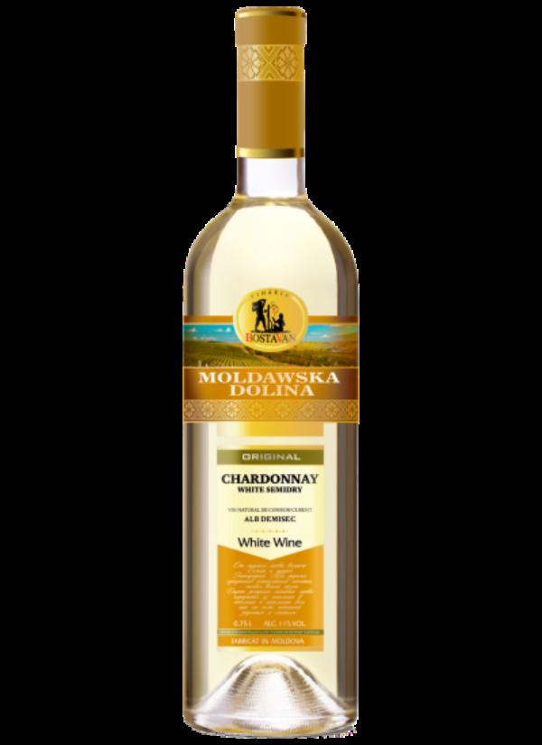 MOLDAWSKA DOLINA SEMI DRY CHARDONNAY 0,75L