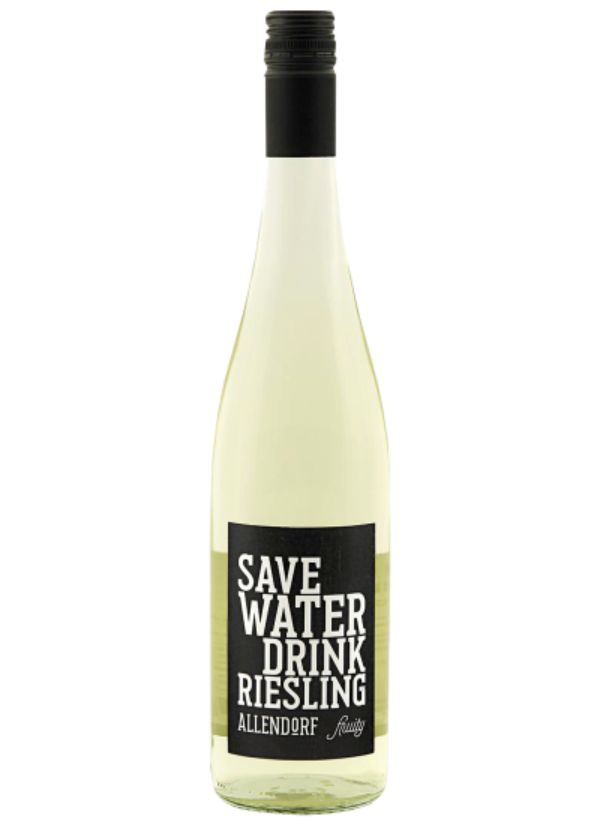 SAVE WATER DRINK RIESLING FRUITY 0,75L