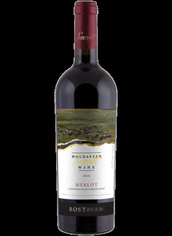 SECRET MOLDAVIAN WINE SEMI DRY MERLOT 0,75L