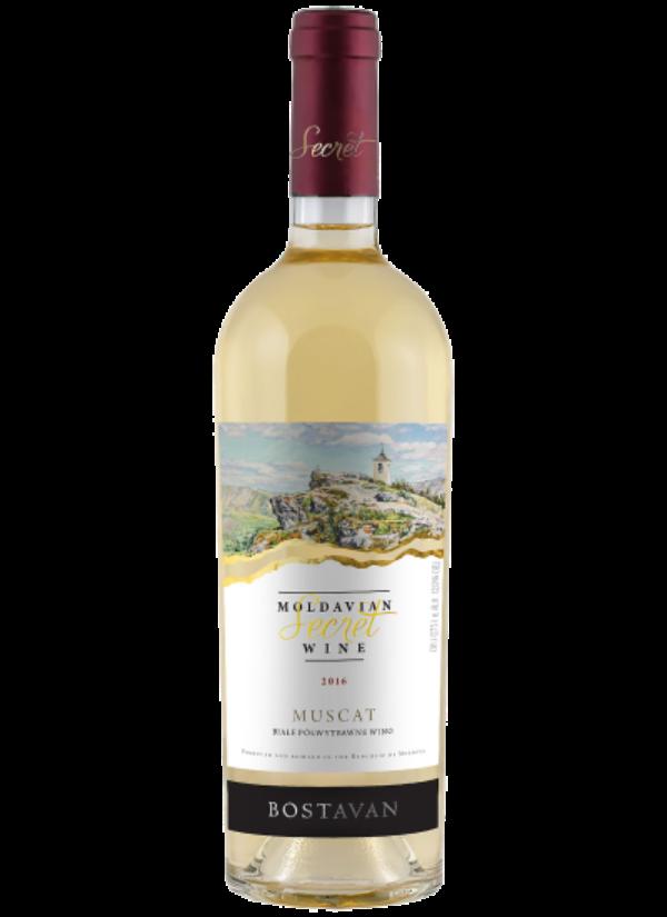 SECRET MOLDAVIAN WINE SEMI DRY MUSCAT 0,75L